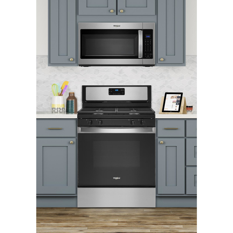 5.0 cu. ft. Whirlpool® gas range with SpeedHeat™ burner WFG515S0JS