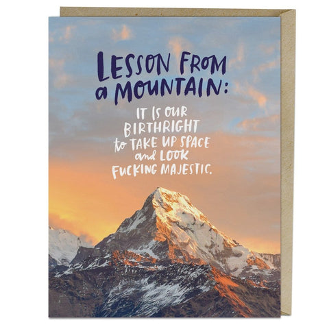 Lesson from a Mountain Card