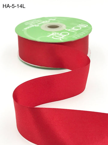 1.5 Inch Classic Double Faced Satin Ribbon with Woven Edge Red