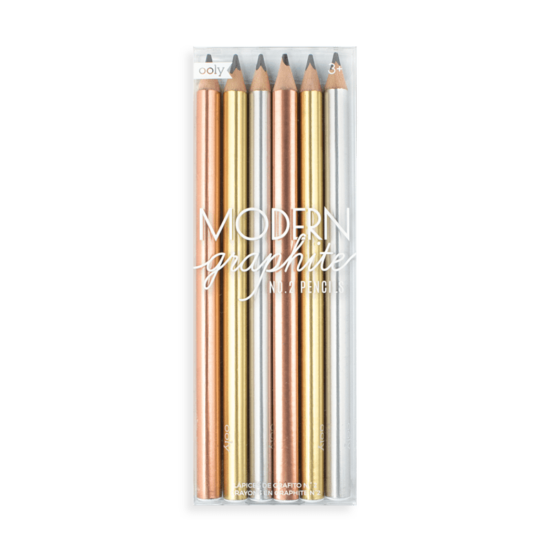 Modern Graphite Pencils - Chunky - Set of 6