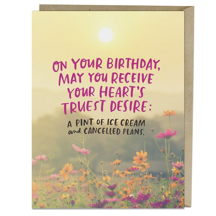 Heart's Desire Birthday Card