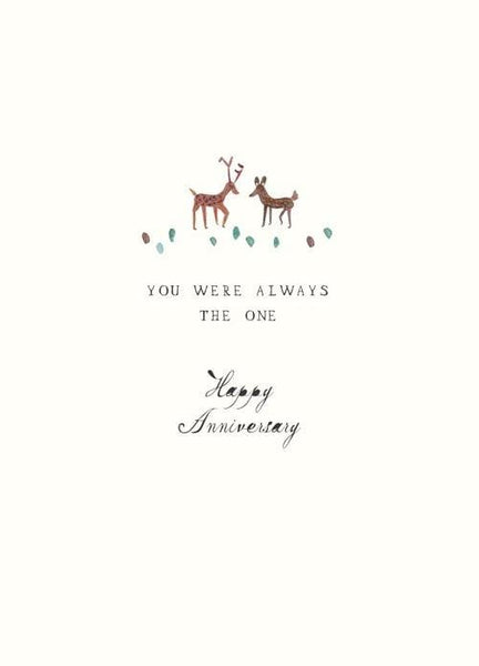 Always the One Deer Anniversary Card