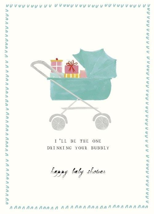 Bubbly Baby Shower Card