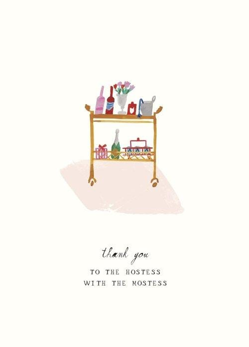 Hostess with the Mostest Thank You Card