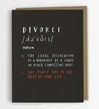 Definition of Divorce Card
