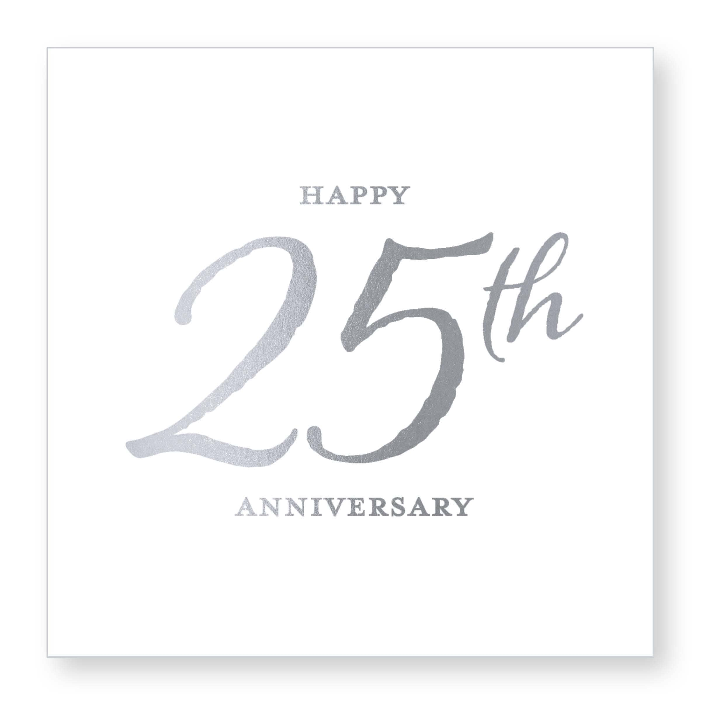 25th Anniversary Beverage Napkin