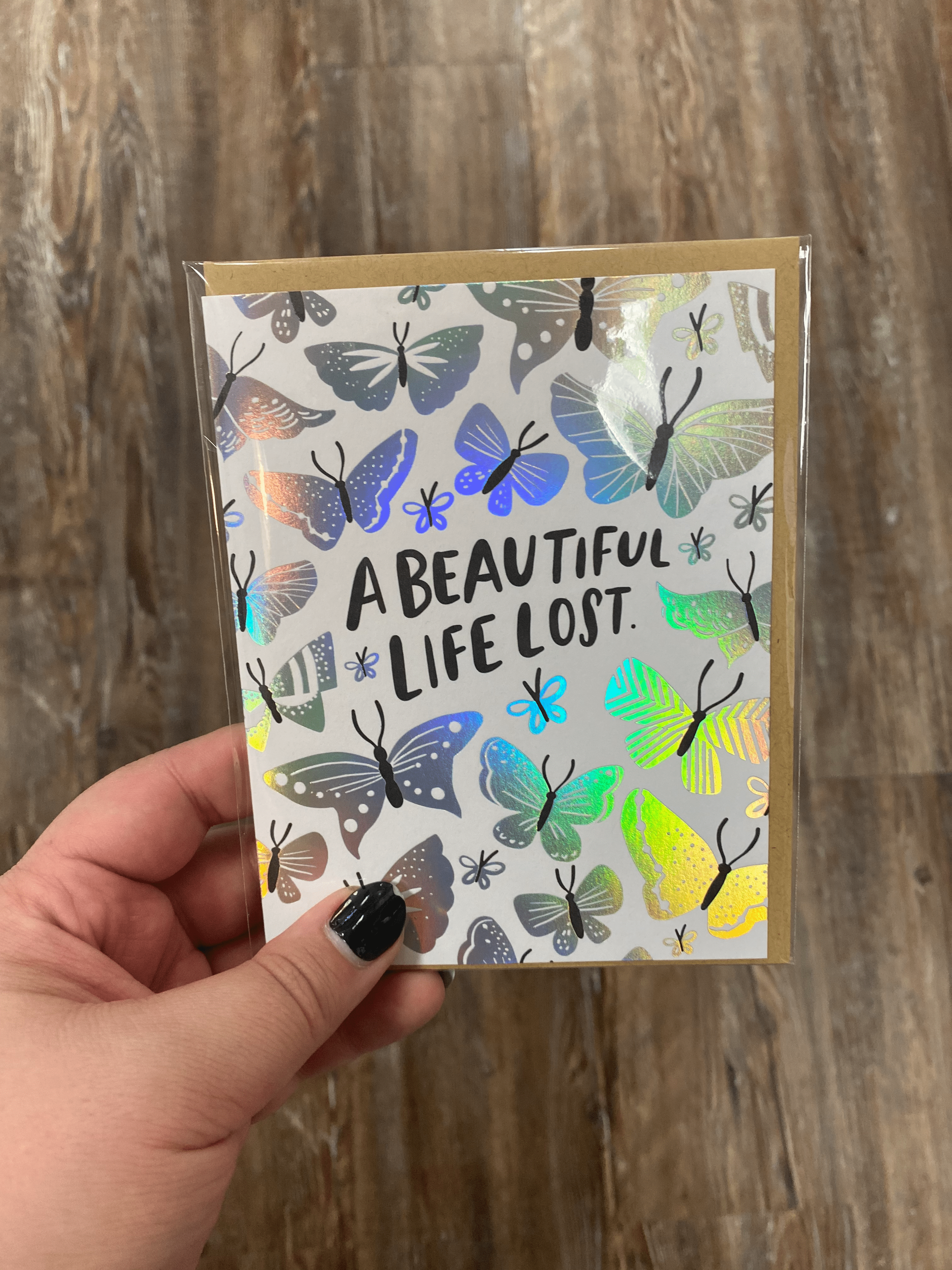 Beautiful Life Lost Card