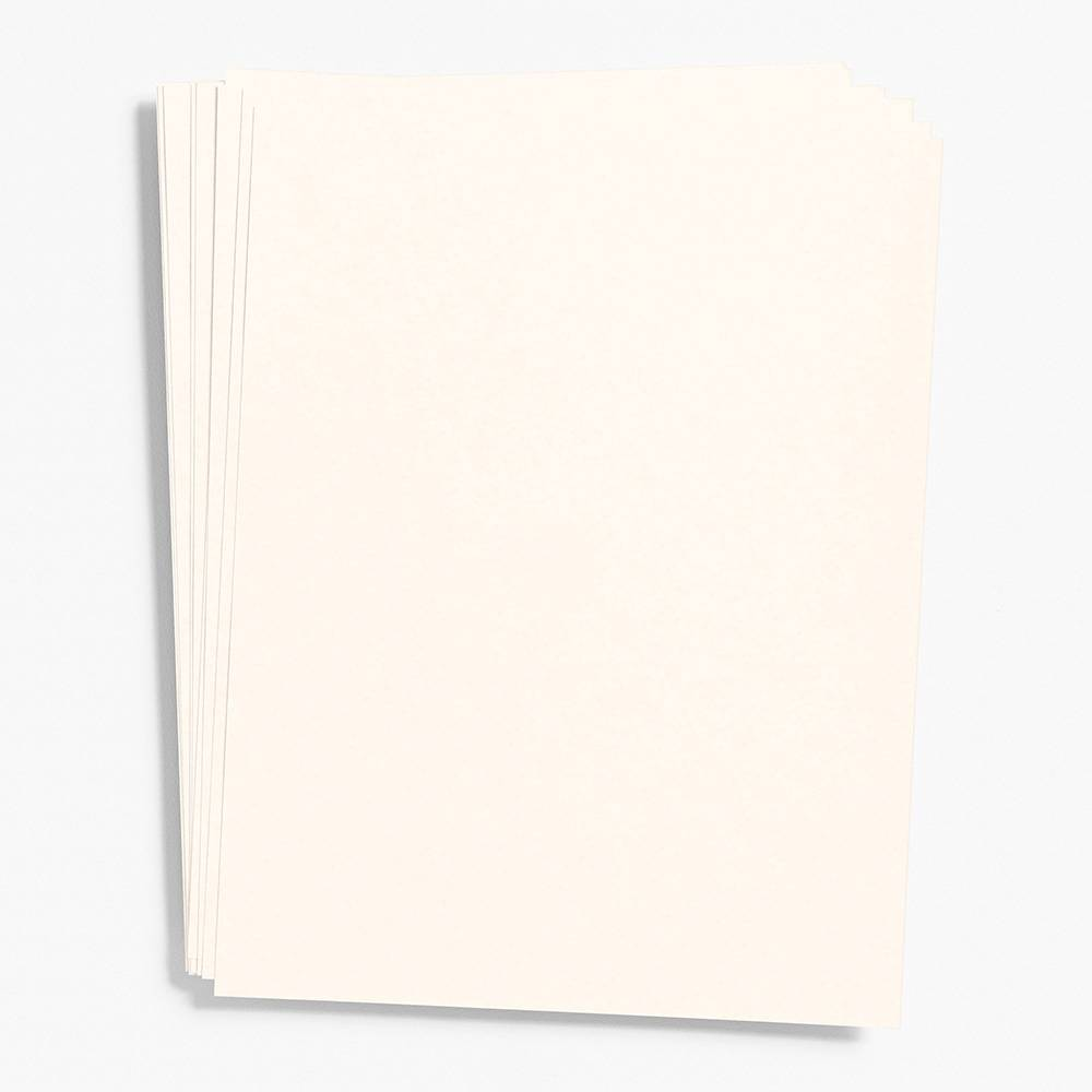 "Luxe Cream Paper 8.5"" x 11"" (Cover Weight)"