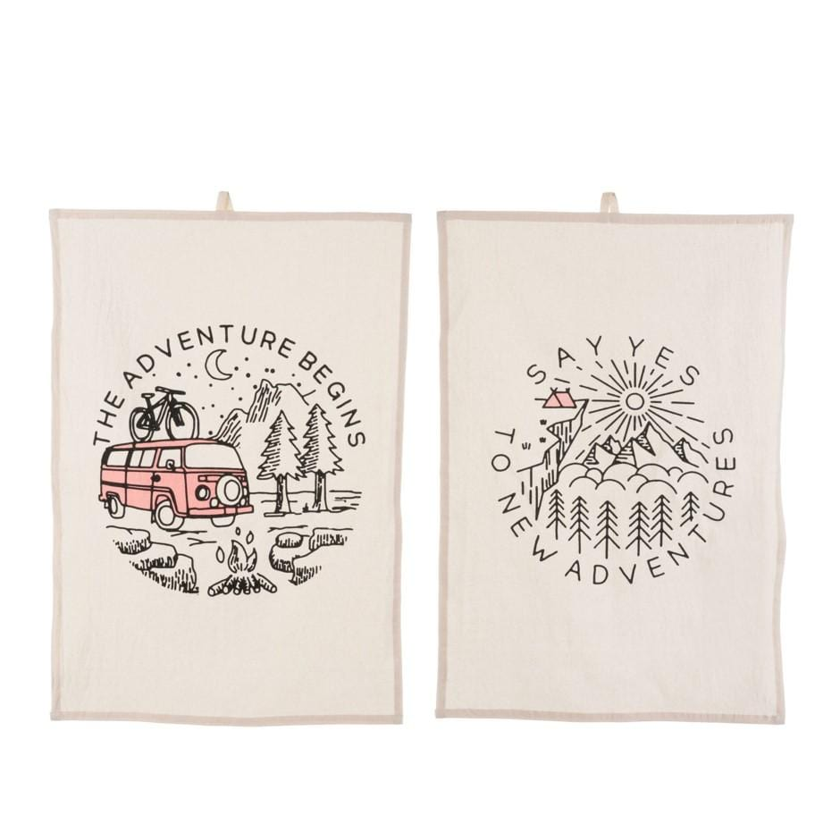 Adventure Time Tea Towels Set of 2