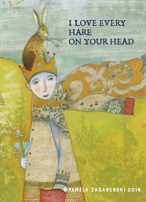 Love Every Hare on Your Head Card