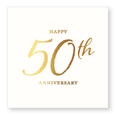 50th Anniversary Beverage Napkin