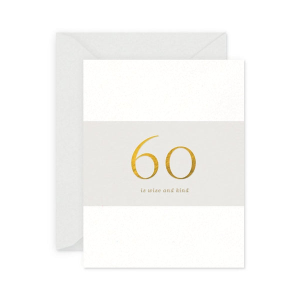 60 is Wise and Kind Birthday Card