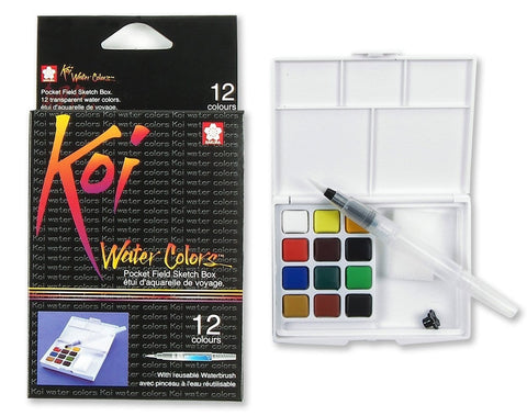 Koi Water Color Set 12 Colors