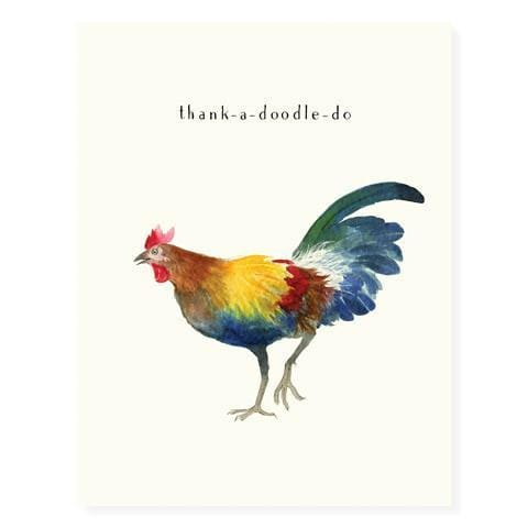Thanks-a-doodle-do Italian Rooster Thank You Card