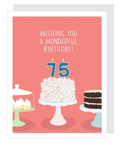 Number 75 Birthday Card