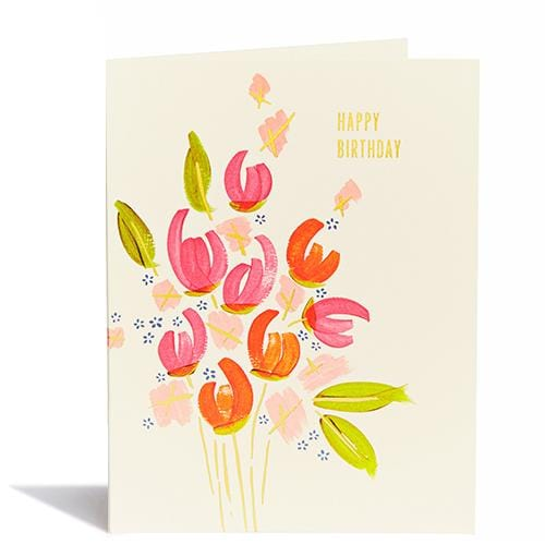 Birthday Tulips Floral Card
