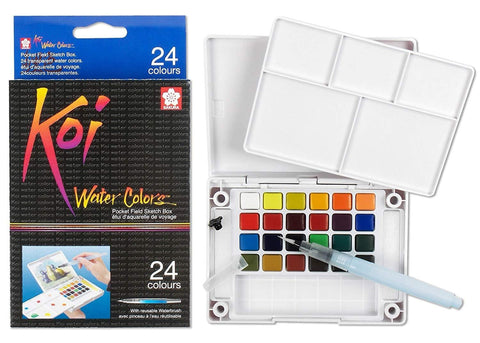Koi Water Color Set 24 Colors