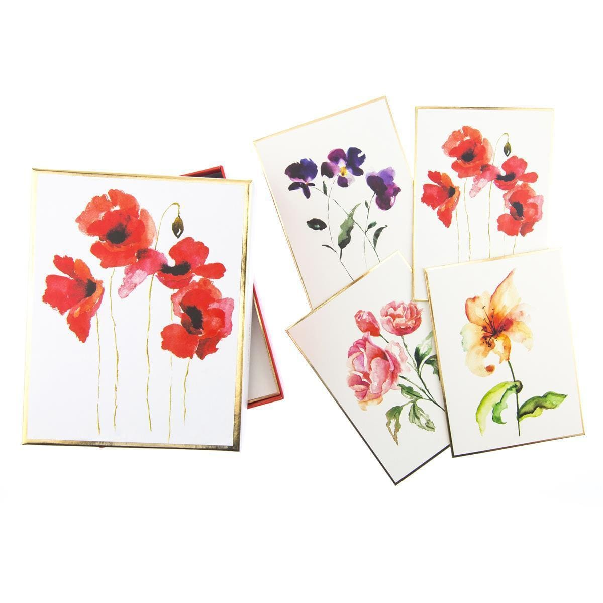 Watercolor Floral Assorted Boxed Cards