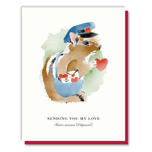 Chipmunk Mailman Card