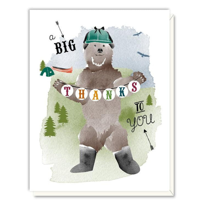 Big Bear Happy Camper Thank You Card