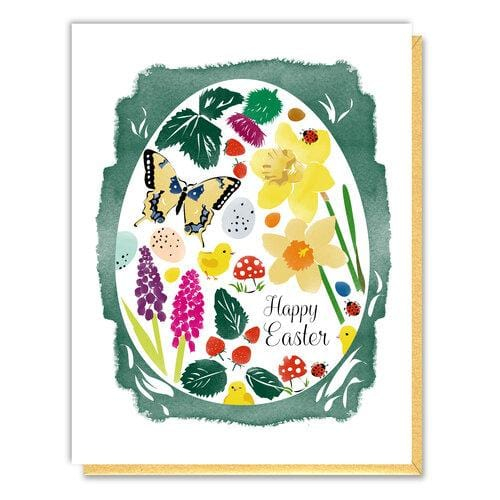Botanical Egg Easter Card