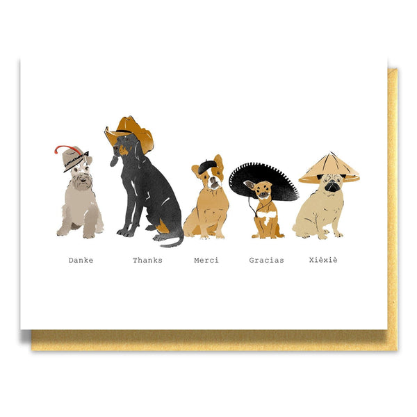 Dogs of the World Thank You Note