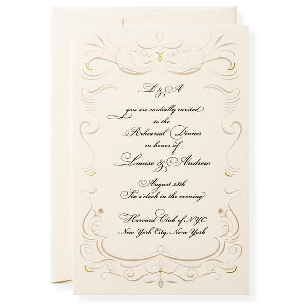 bea gres blank invitations paper luxe