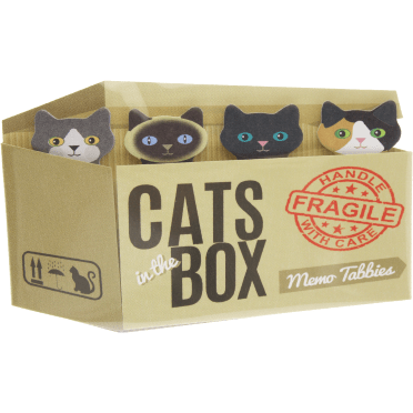 Cats in the Box Memo Tabbies