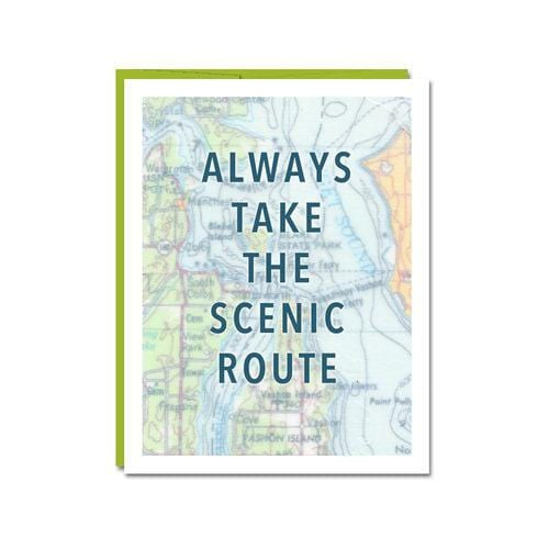 Always Take The Scenic Route Notecard Paper Luxe