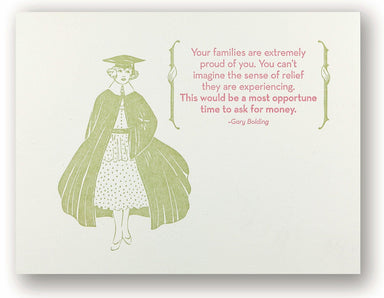 Ask for Money Graduation Card