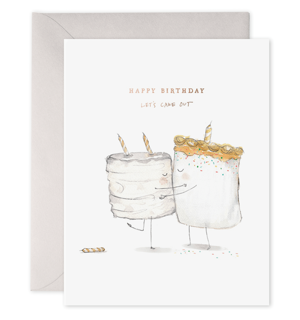 Let's Cake Out Birthday Card