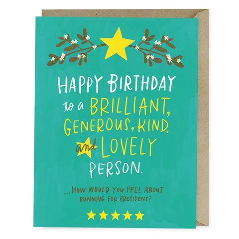 Birthday President Card