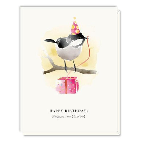 Coal Tit Bird Happy Birthday Card