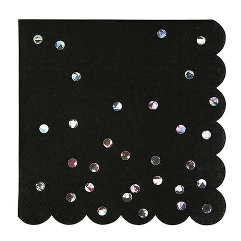 Black Holographic Large Napkin