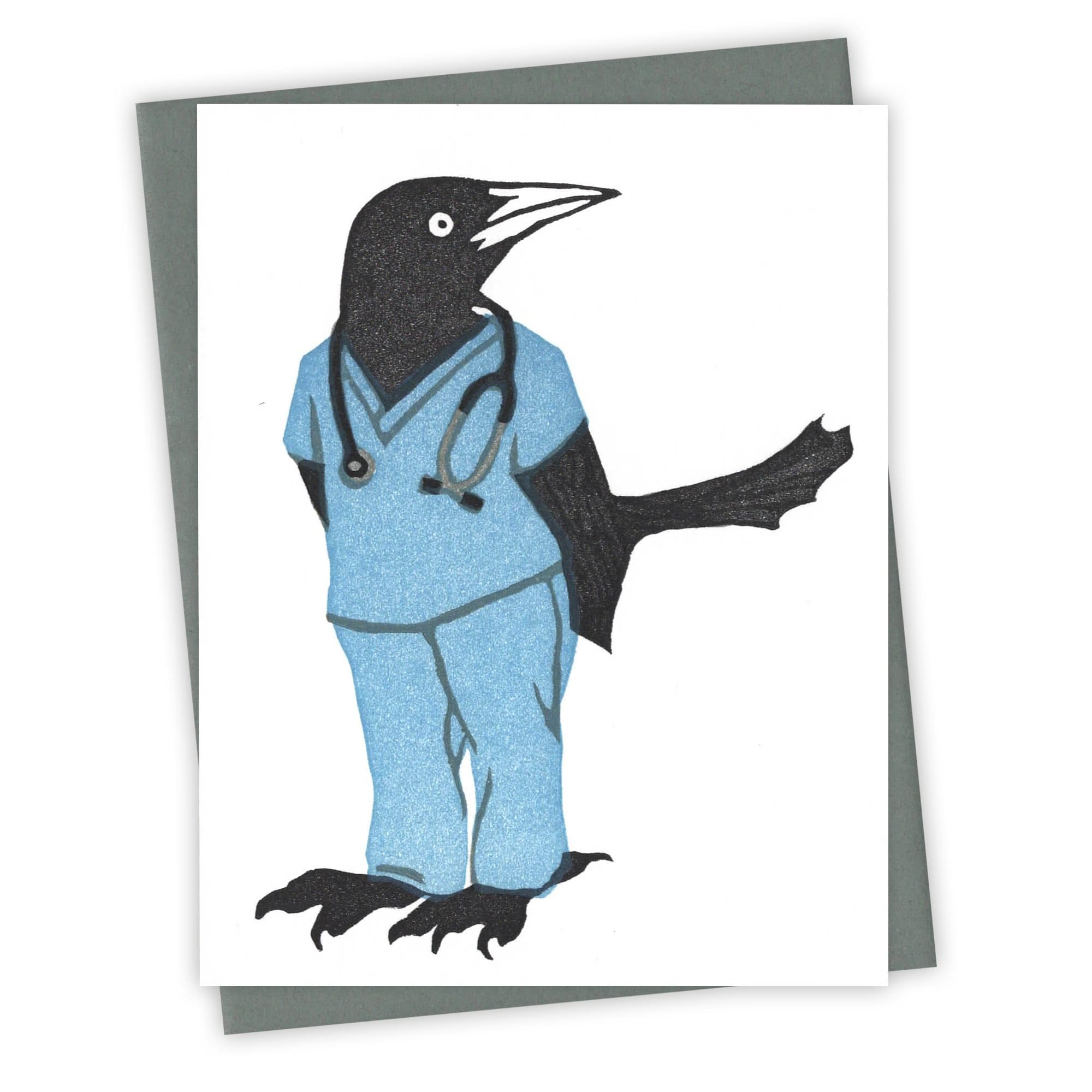 Resident Grackle Card