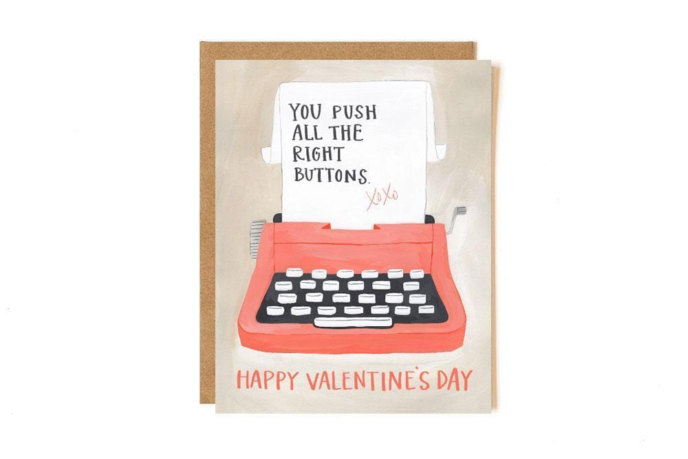 Valentine Typewriter Card