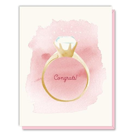 Congrats! Diamond Ring Card