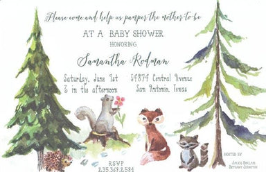 Cute Critters Blank Invitations