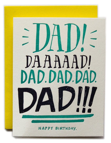 Dad Yelling Card