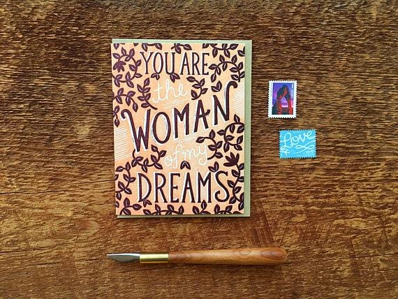 Dream Woman Love Card