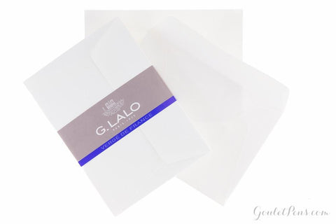 G. Lalo Verge de France White Envelopes - 4 1/2 x 6 3/8