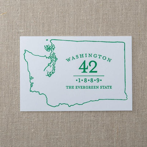 Washington Evergreen State Postcard