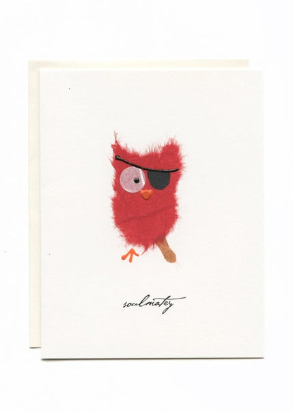 You're My SoulMatey Owl with Eye Patch Card