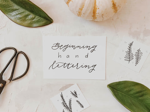 Beginning Hand Lettering Workshop + Pumpkins!