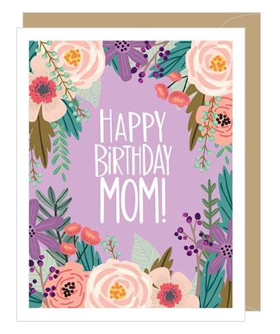 Floral Birthday Mom Card
