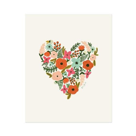 Floral Heart Greeting Card - Boxed Set