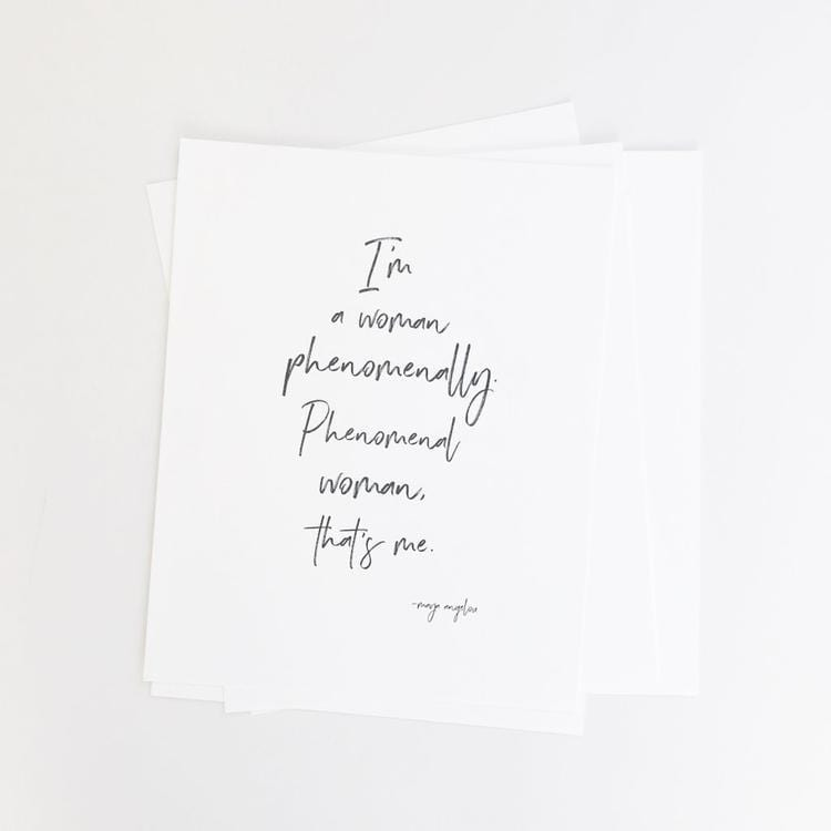 I Am Woman Art Print
