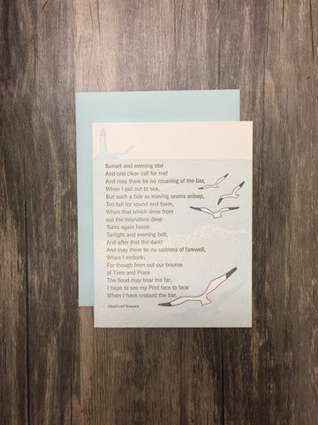 Seagull Poem Card