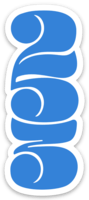 Funky 253 Monogram Blue Sticker