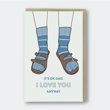 Dad Birkenstocks Single Card